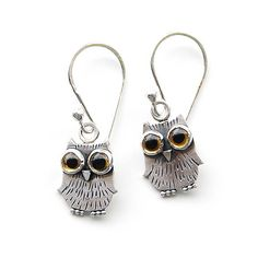 Baby Owl Earrings