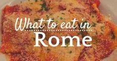 The best places to eat in Rome