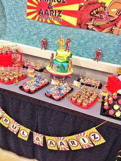 ultraman themed party Dessert Table Candy Bar Pinterest