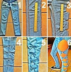 DIY Bow Jeans