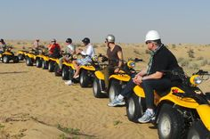 Self-Drive Desert Buggy or Quad Bike Experience with Transport from Dubai Combine sand and speed on a thrilling 3-hour desert ride through the sun-baked plains that surround Dubai! After a pickup from central Dubai, from your chose of a Sand buggy or Quad bike tour, listen to a safety briefing and then take to the dunes to tear up the sand as you follow a local guide around the desert's canyons and valleys. The exhilarating experience includes use of a helmet and goggles...