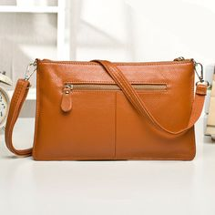 Brown Fashion Casual Embossing Nappa Leather Messenger Shoulder Bags Brown Fashion, Casual Bags, Cool Things To Buy, Stuff To Buy, Clutch Bags, Messenger Bags, Women's Bags, Shoulder Bags, Leather
