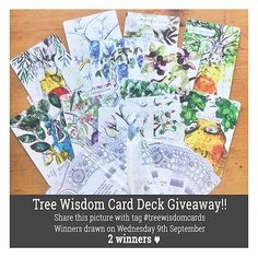 || repost of the amazing #giveaway by @lisamcloughlinart  I love finding artists who are so passionate and uniquely creative. not to mention generous!! || #treewisdomcards || xo