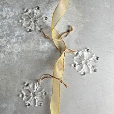 Product Images | west elm Glass Snowflakes should set off my tree nicely