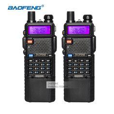 2 pz walkie talkie baofeng uv-5r cb ham radio 3800 batteria Dual Band UHF VHF Portatile Walkie Talkie Set Radioamatore stazione