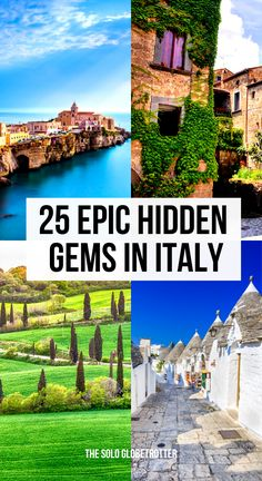 Looking for hidden gems in Italy? Check this list of the most beautiful Italian gems. Get to know a bit about the secret places in Italy from Tuscany to Puglia regions to Islands.