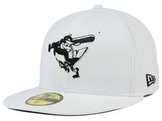 Baltimore Orioles New Era MLB White And Black 59FIFTY Cap