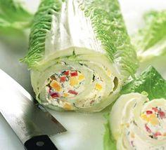 Творожный рулет из китайской капусты. Кочан надо взять очень маленький.