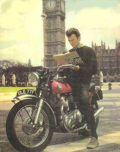 Clint Eastwood on a Norton Commando