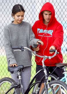 Selena Gomez seen out bike riding with Justin Bieber, November 1st