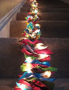 beautiful DIY garland...it would look perfect swinging down a bannister, over a fireplace or bed, or around a doorway.