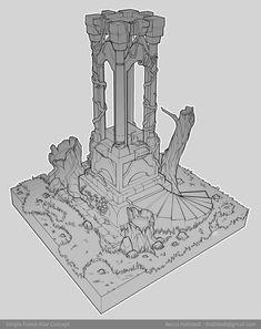 ArtStation - Simple Forest Altar, Becca Hallstedt