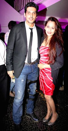 Zayed Khan with Shweta Pandit at the 'Desi Magic' completion bash. #Style #Bollywood #Fashion #Beauty