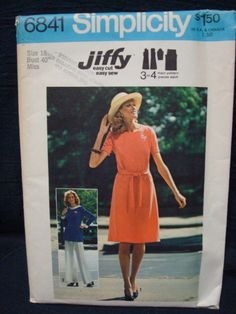 1970s Bust 40 Vintage Sewing Pattern Uncut FF by kinseysue, $5.00