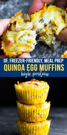 Quinoa egg muffins are super simple to make with just a few ingredients. This breakfast muffin recipe is full of protein and customizable to suit your tastes. Its gluten-free freezer-friendly and perfect for meal prep. Best Breakfast Recipes, Vegetarian Breakfast, Brunch Recipes, Breakfast Ideas, Mexican Breakfast, Sans Gluten, Gluten Free, Breakfast Muffins, Protein Breakfast