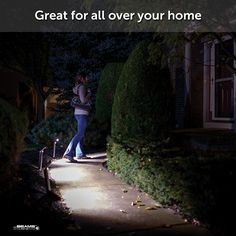 Motion sensored Path Lights that are battery operated. Such a good idea, must have these all over the garden pathways.