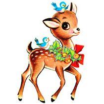 Free Christmas Vintage deer clip art @ fptfy
