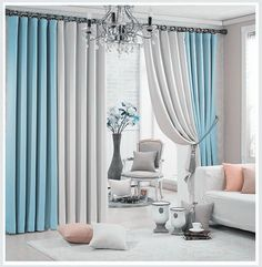 New Arrival Window Curtains For Living Room +Voile / sheer 2 colors Combined Blackout Shade For Summer Style Home Trimming. Category: Home & Garden. Subcategory: Home Textile. Living Room Decor Curtains, Home Curtains, Living Room Windows, Cozy Living Rooms, Window Curtains, Bedroom Decor, Blackout Curtains, Plain Curtains, Colorful Curtains