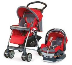 Red stroller/car seat for both genders