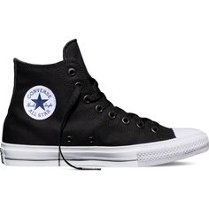 Converse Chuck Taylor All Star II – black Sneakers (280 BRL) via Polyvore featuring shoes, sneakers, black, converse, star sneakers, converse shoes, converse trainers, kohl shoes and black sneakers