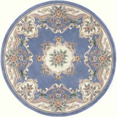 Woven Accents Iona Hand-Tufted Wool Oriental Area Rug (72) - 15 6' (Heritage N802-15 6' Rug), Blue, Size 15 6'