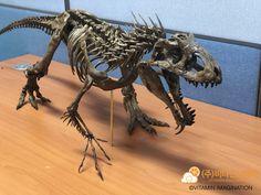 ArtStation - Indominus rex Skeleton 1:10 Scale, Vitamin Imagination Indominus Rex, Jurassic Park World, Animal Drawings, Dinosaurs, Platforms, Art Inspo, Skeleton, Imagination, Scale