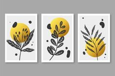 Download Gold Botanical Cover Set for free