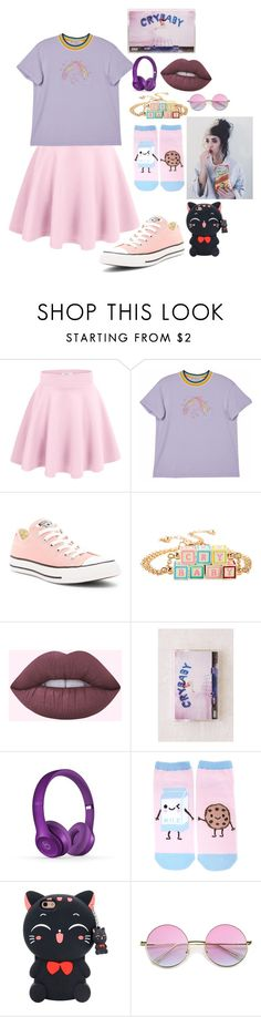 """""""cry baby"""" by luna-the-outcast ❤ liked on Polyvore featuring Converse, Urban Outfitters, Beats by Dr. Dre, Forever 21 and ZeroUV"""