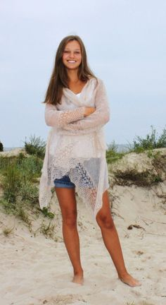 sweater wrap in mohair fits for S ML sizes made to by iveta67, $149.00