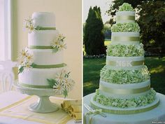 Green Martha Wedding Cakes