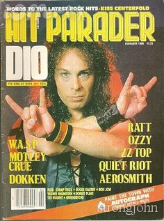 Hit Parader - 1980s .....Another magazine subscription I had dedicated to Heavy Metal Music