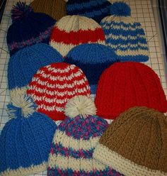 Free hat pattern. Works up quick, doesn't take a lot of yarn.