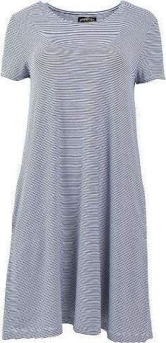 United By Blue Women's Ridley Swing Dress Navy/White Stripe XL