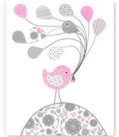 Art culos similares a elefante gris y rosa vivero pared - Vivero la rosa del norte ...