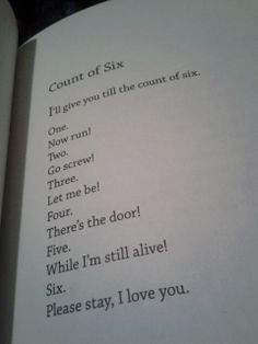 Count of Six- Bo Burnham