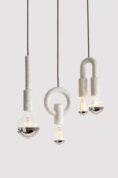 I-O-N Ceramic Pendant Lights from Porcelain Bear