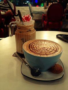 Hot chocolate & hazelnut coffee