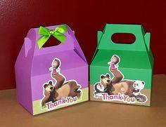 12 Masha y el oso cajas por PishPoshPartique en Etsy