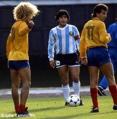 Maradona y Valderrama, Copa América1987.
