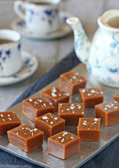 Earl Grey Caramels - chewy caramels with a hint of Earl Grey tea flavor. | From candy.about.com