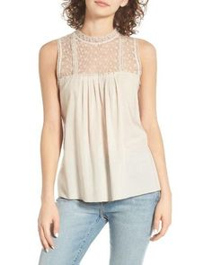 Hinge | Natural Lace Tank | Lyst