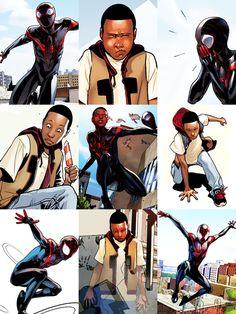 Comic Book Characters, Comic Character, Comic Books, Sara Pichelli, Miles Morales Spiderman, Super Heroine, Black Comics, Marvel E Dc, Hero Time