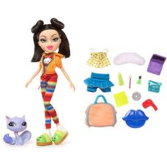 Bratz Sleepover Party Jade Doll W/Pet & Accessories~New~Great Gift 4 Holidays Doll Toys, Barbie Dolls, Dolly Doll, Barbie Sets, Girl Dolls, Brat Doll, Cute School Supplies, Dress Up Dolls, Sleepover Party