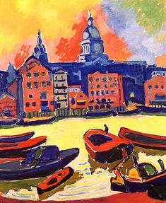 Paul's from the Thames. André Derain was a French artist, painter, sculptor and co-founder of Fauvism with Henri Matisse Henri Matisse, André Derain, Raoul Dufy, Fauvism Art, Maurice De Vlaminck, Art Du Monde, Georges Braque, French Artists, Figure Painting