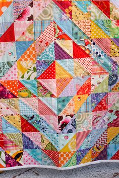 Finished Value Quilt by Jeni Baker, via Flickr=Half Square Triangles