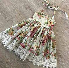 Pretty Little Dress, Little Dresses, Girls Dresses, Flower Girl Dresses, Summer Dresses, Cotton Frocks, You Are My Sunshine, Baby Patterns, Kids Wear