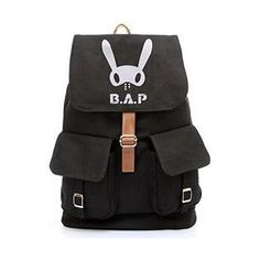 e7a64f853f8bf KPOP SUPPORT FANMADE ALL CANVAS SCHOOLBAG ❤ liked on Polyvore featuring  kpop Podróż Z Plecakiem,
