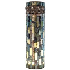 Buy the River of Goods Blue / Green Direct. Shop for the River of Goods Blue / Green Inch Beaded Mosaic LED Lit Vase and save. Stained Glass Art, Fused Glass, Waterproof Led Lights, Mosaic Vase, Unique Lamps, Mirror With Lights, River, Kingdom Hearts, Vases