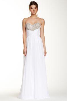 La Femme Embellished Cutout Back Gown by La Femme on @nordstrom_rack