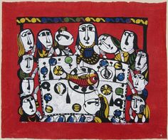 View and purchase art by Sadao Watanabe and other Japanese artists. Japanese etchings, wood block, silkscreen, stencil from famous artists. Easter Pictures, Biblical Art, Last Supper, Silhouette, Japanese Artists, Christian Art, Religious Art, Famous Artists, Ikon
